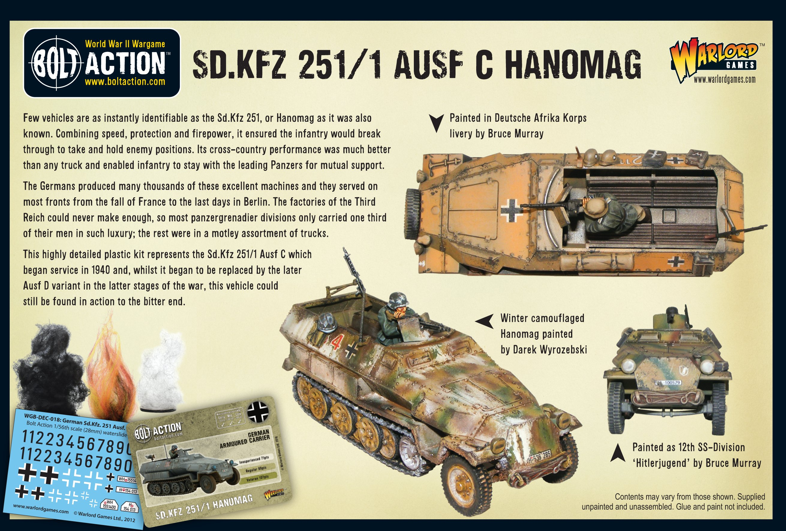 Warlord Games Bolt Action  Hanomag ausf 251//1 D